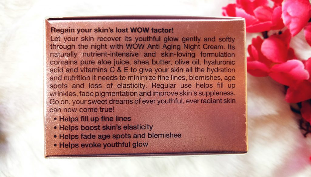 Wow Anti Aging Night Cream Review